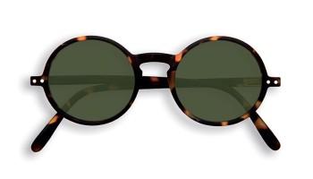 "IZIPIZI Forme ""G"" Tortoise Green Lenses Dioptries: sans"
