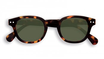 "IZIPIZI Forme ""C"" Tortoise Green Lenses Dioptries: sans"