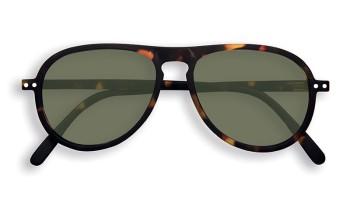"IZIPIZI Forme ""I"" Tortoise Green Lenses Dioptries: sans"