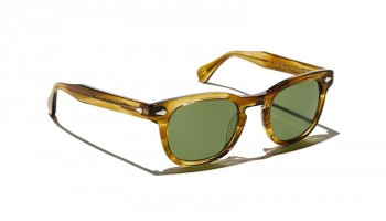 Moscot GELT SUN Honey Blonde - Calibar Green
