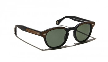 Moscot LEMTOSH SUN Matte Black/Wood - G15