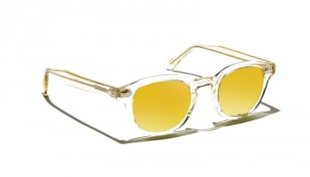 Moscot Custom Made Tints LEMTOSH SUN Flesh - Gold Mirror