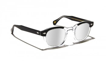 Moscot LEMTOSH SUN Black Crystal - Silver Mirror custom