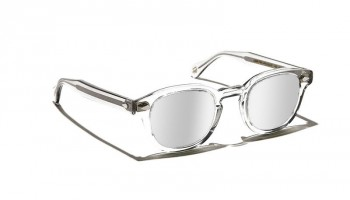 Moscot LEMTOSH SUN Light Grey - Silver Mirror custom