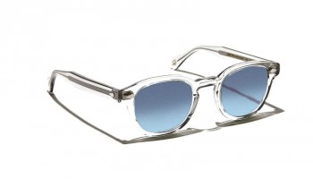 Moscot LEMTOSH SUN Light Grey - Blue Gradient custom