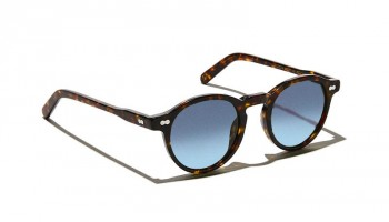Moscot Custom Made Tints MILTZEN SUN Tortoise - Blue Gradient