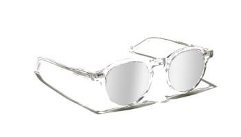 Moscot MILTZEN SUN Crystal - Silver Mirror custom