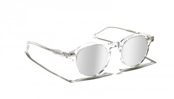 Moscot Custom Made Tints MILTZEN SUN Crystal - Silver Mirror