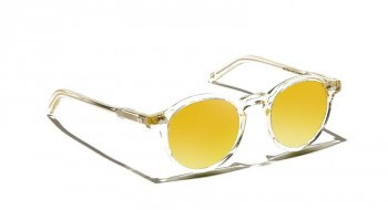 Moscot Custom Made Tints MILTZEN SUN Flesh - Gold Mirror